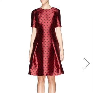 St John Knits sold out polka dot silk dress NWOT